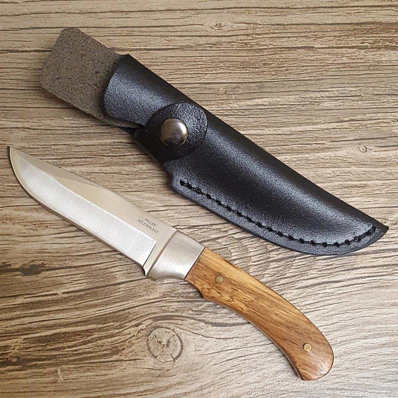 Haller Taschenmesser Outdoormesser Messer Freizeitmesser Zebraholzgriff 84469