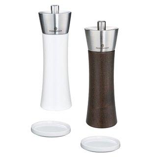 Pfeffer und Salzmühle Kunststoff WEISS 18 cm